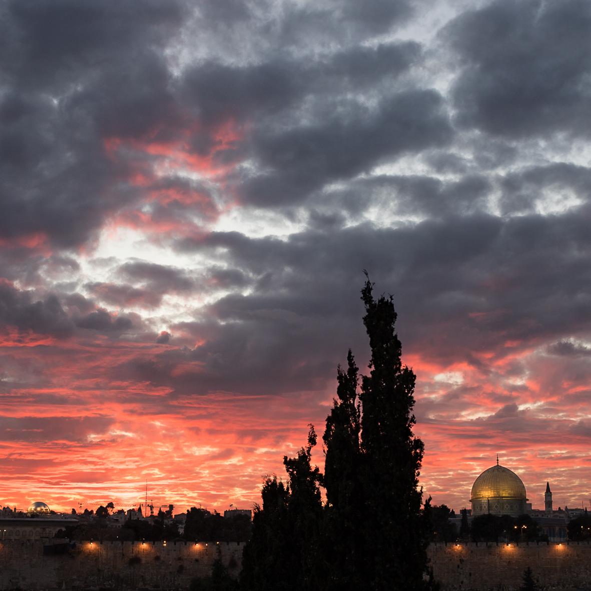 Sonnenuntergang am Tempelberg, Jerusalem