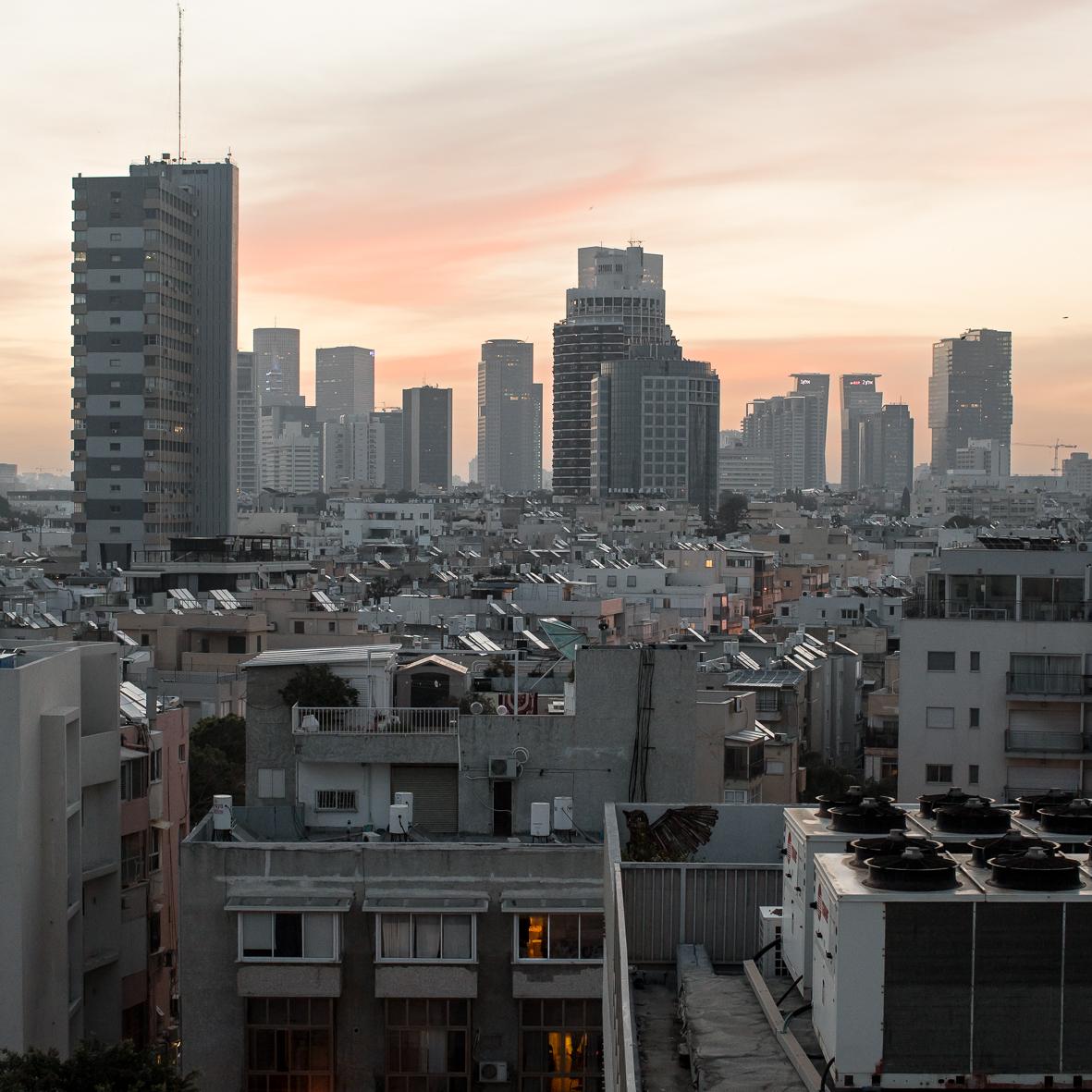 Sonnenaufgang in Tel Aviv